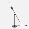 Counterbalance Bare Bulb Table Lamp - Ebonized Brass - Bulb Left
