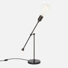 Counterbalance Bare Bulb Table Lamp - Ebonized Brass - Bulb Right