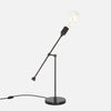 Counterbalance Bare Bulb Table Lamp - Ebonized Brass - Back View