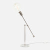 Counterbalance Bare Bulb Table Lamp - Polished Nickel - Bulb Left