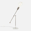 Counterbalance Bare Bulb Table Lamp - Polished Nickel - Bulb Right