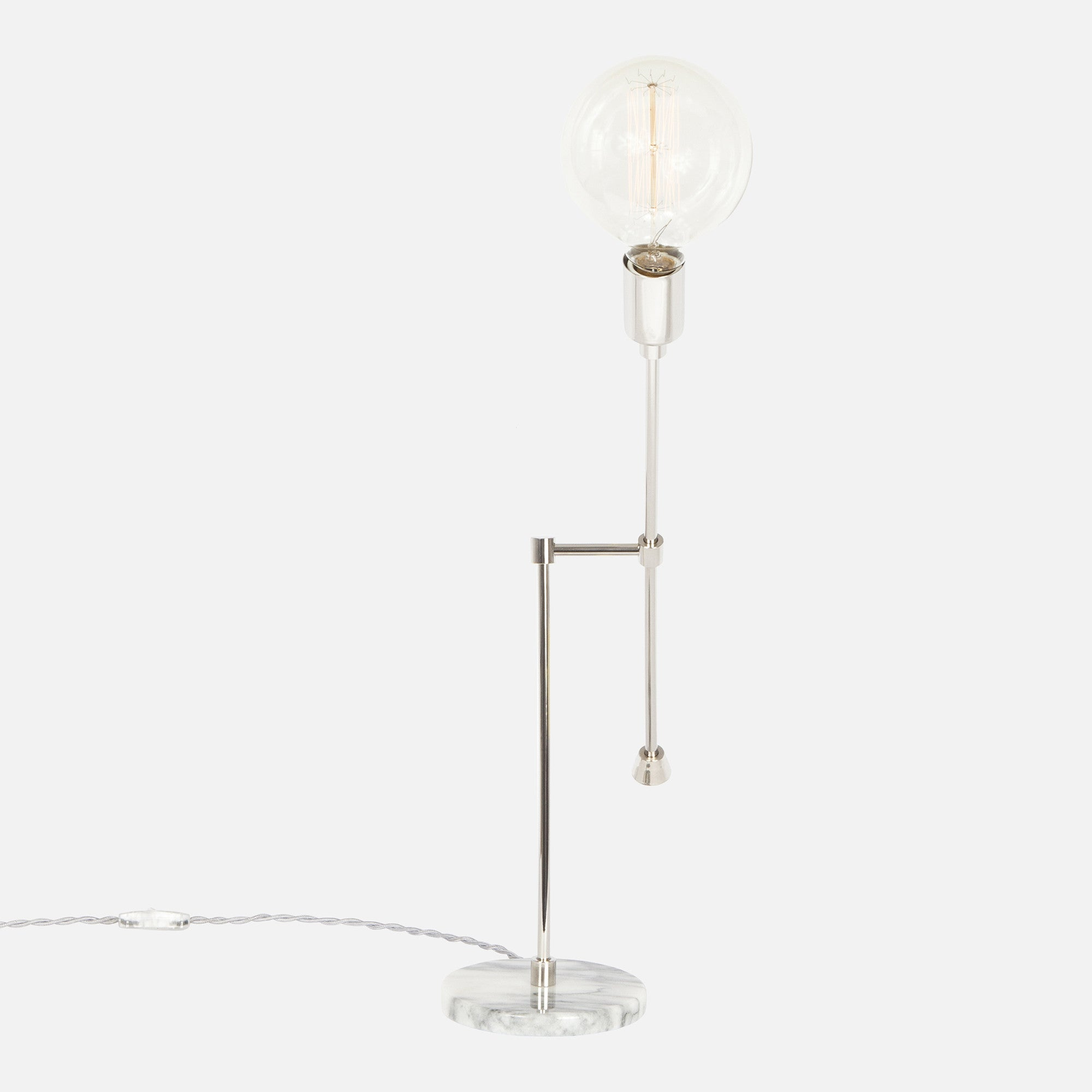 Counterbalance Bare Bulb Table Lamp Flea Market Rx