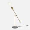 Counterbalance Bare Bulb Table Lamp - Vintage Brass - Bulb Left