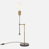 Counterbalance Bare Bulb Table Lamp - Vintage Brass - Side View