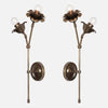 Bloom Wall Sconce Double Stem Mirrored Pair