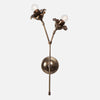 Bloom Wall Sconce Double Stem Front View