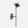 Bloom Single Stem Articulating Wall Sconce - Side View - Ebonized Brass