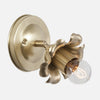 Bloom Flush Mount Wall Sconce - Raw Brass Patina