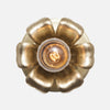 Bloom Flush Mount Wall Sconce - Raw Brass Patina - Detail