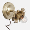 Bloom Flush Mount Wall Sconce - Plug In - Raw Brass Patina