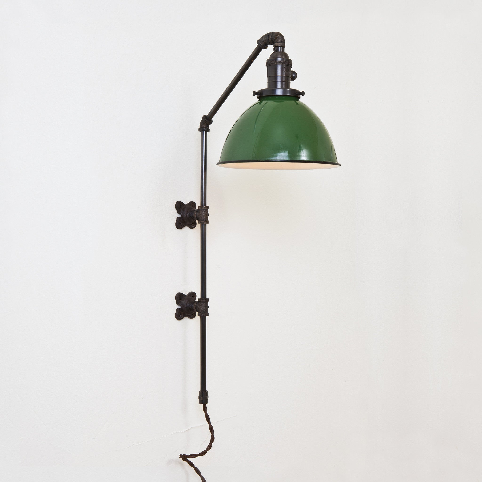 Brass Pipe Sconce - Dome Shade