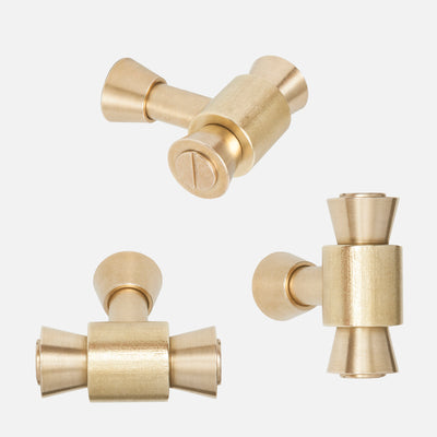 Brancusi Cabinet Knob - Raw Brass Group
