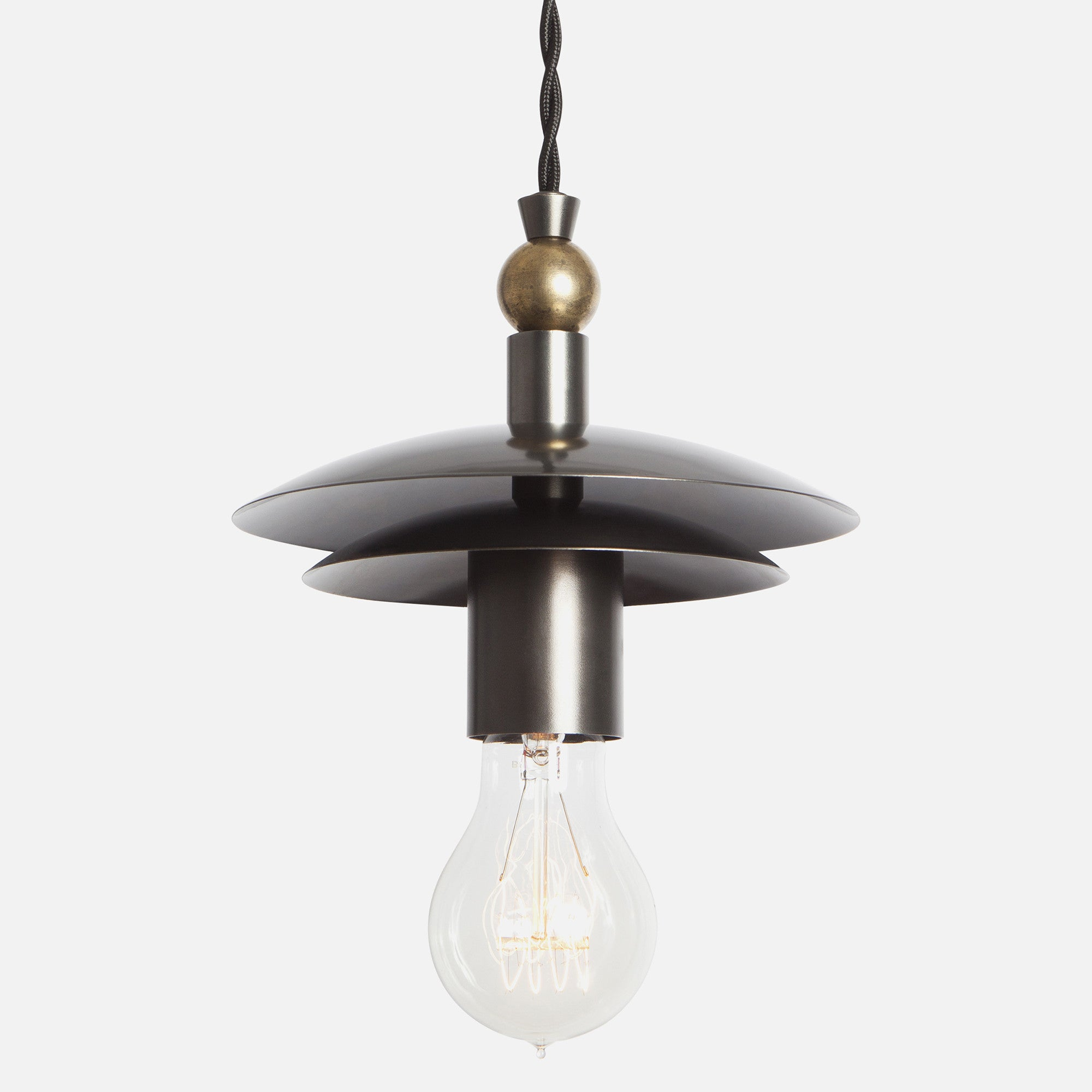 Brancusi Double Dome Pendant Light