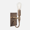 Bespoke Mini Wall Sconce - View 3 - Vintage Brass Patina