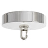 Polished Nickel Ceiling Canopy Kit, Heavy Duty Hook for Chandelier