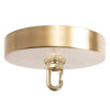 Satin Brass Ceiling Canopy Kit, Heavy Duty Hook for Chandelier