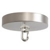 Satin Nickel Ceiling Canopy Kit, Heavy Duty Hook for Chandelier
