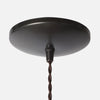 Ebonized Brass Round Dome Ceiling Canopy Kit