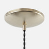 Dome Ceiling Canopy Kit - Raw Brass Patina