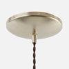 Round Dome Ceiling Canopy Kit - Raw Brass