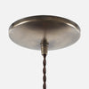 Round Dome Ceiling Canopy Kit - Vintage Brass