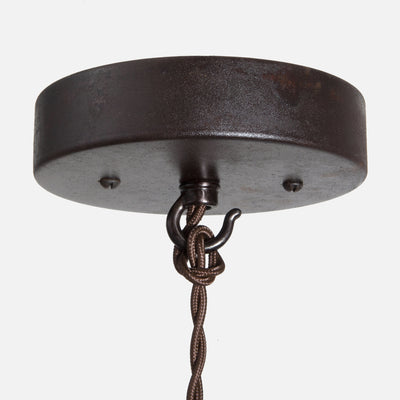 Industrial Spring Pendant Hardwire w/ Canopy Detail