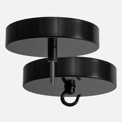 Matte Black Ceiling Canopy Kit for Pendant Light or Chandelier