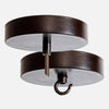 Blackened Rust Ceiling Canopy Kit for Pendant Light or Chandelier