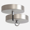 Satin Nickel Ceiling Canopy Kit for Pendant Light or Chandelier