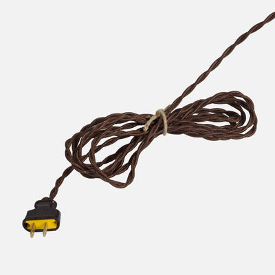 Cloth Covered Twisted Cord - Dark Brown