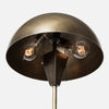 Vintage Brass Dome Shade Table Lamp - Bulb View