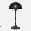 Dome Table Lamp in Blackened Brass - Front View