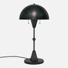 Dome Table Lamp in Blackened Brass - Side View