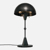 Dome Table Lamp - Ebonized Brass - Black Marble Base - Upview