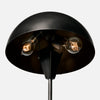 Blackened Brass Dome Shade Table Lamp - Bulb View