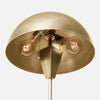 Satin Brass Dome Shade Table Lamp - Bulb View