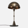Dome Table Lamp - Upview - Vintage Brass - Black Marble Base