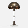Dome Table Lamp - Vintage Brass - White Marble Base - Upview