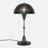 Dome Table Lamp - Vintage Nickel - Black Marble Base - Side View