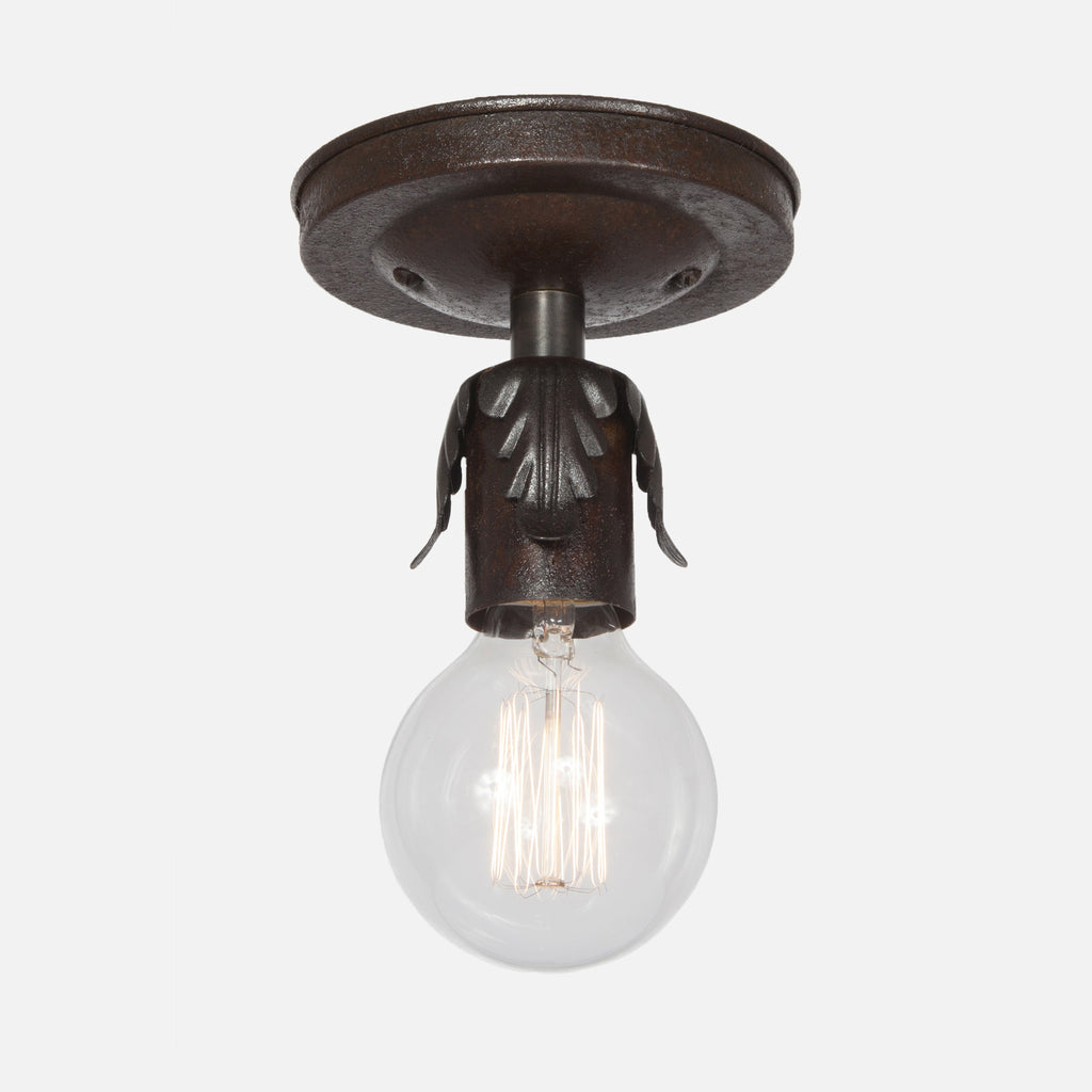 Fleurette Flush Mount Ceiling Light - Ebonized Rust