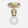 Fleurette Flush Mount Ceiling Light - Raw Brass