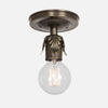 Fleurette Flush Mount Ceiling Light - Vintage Brass