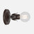Fleurette Wall Sconce - Ebonized Rust