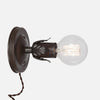 Fleurette Wall Sconce - Ebonized Rust - Plug-in