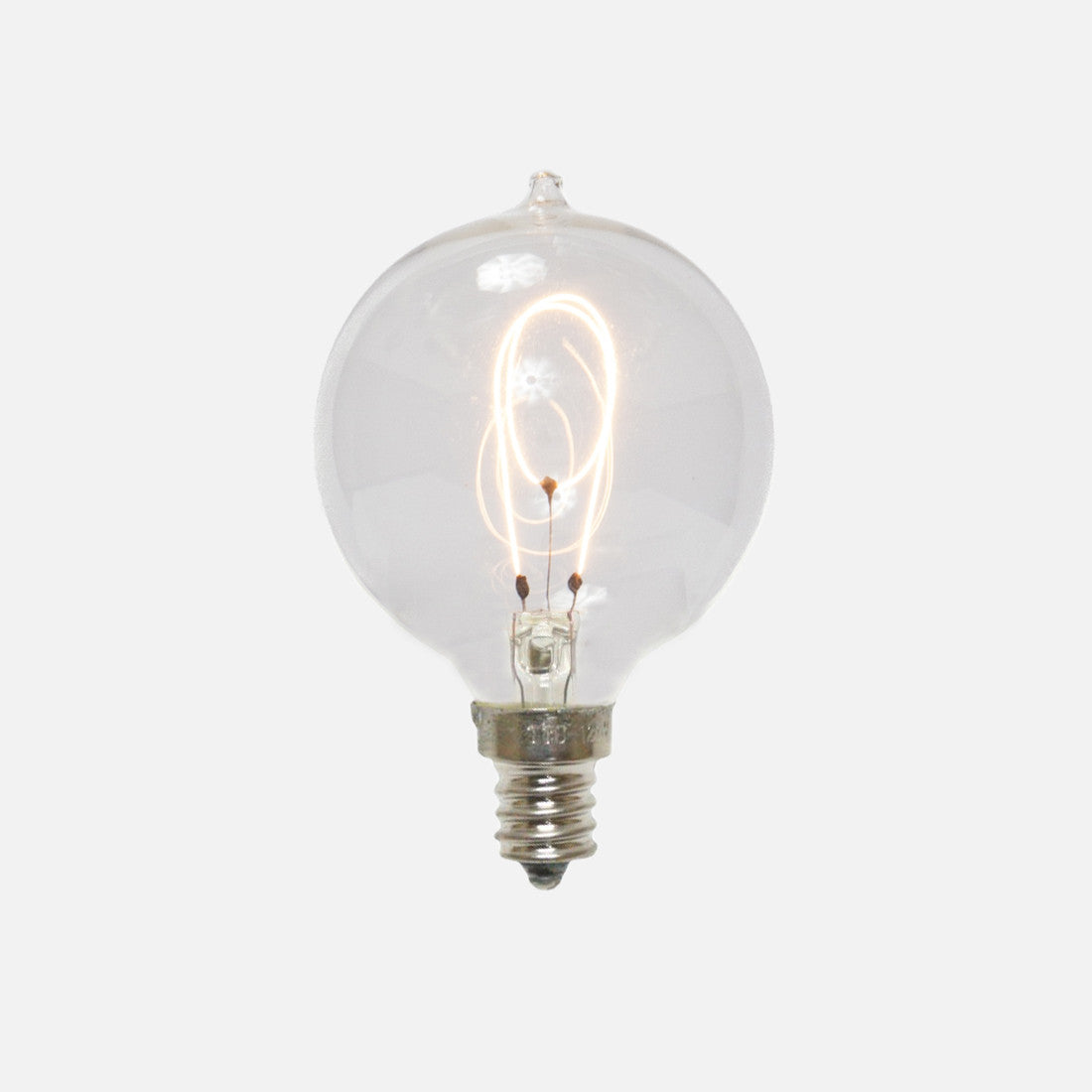 Globe G16.5 Vintage Style Carbon Filament Candelabra Base Light Bulb