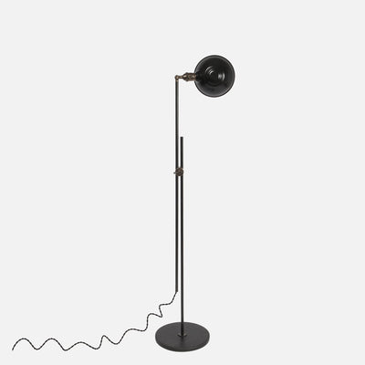 Otis Articulating Floor Lamp w/ Rotating Parabolic Shade