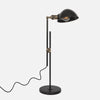Otis Table Lamp with Adjustable Factory Shade - Upright View