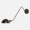Modern Library Wall Sconce in Blackened Brass with Vintage Brass Accents