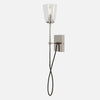 Modern Stemmed Wall Sconce - Bell Shade - Polished Nickel