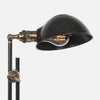 Otis Articulating Floor Lamp - Slanted Factory Shade Detail